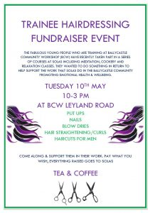 Trainee hairdressing fundraiser